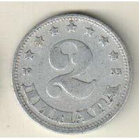 Югославия 2 динар 1953