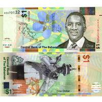 Багамы (Багамские острова) 1 доллар 2017  год UNC