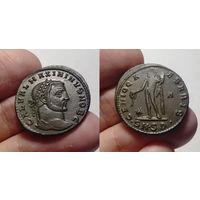 Римская Империя, Максимин II Даза как Цезарь, нуммий (фоллис), 305-309 годы, Дакия, г. Сердика. 26 мм