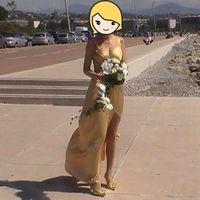 Красивое золотое платье на выпускной или торжество