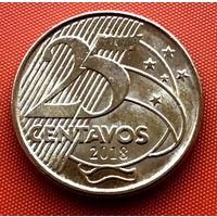 113-20 Бразилия, 25 сентаво  2018 г. Единственное предложение монеты данного года на АУ
