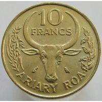 Мадагаскар 10 франков 1989 (336)