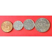 Швеция, 4 монеты новый штамп