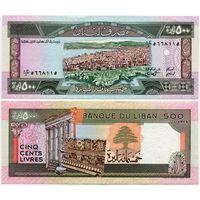 Ливан. 500 ливров (образца 1988 года, P68, UNC)
