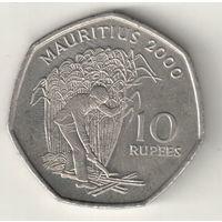 Маврикий 10 рупия 2000