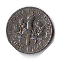 США. 1 дайм (10 центов). 1970 D