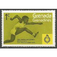 Гренада Гренадины. Панамериканские игры. Мехико. Прыжки в длину. 1975г. Mi#106.