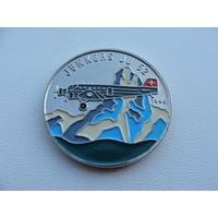 Конго. 100 франков 1995 год - Юнкерс JU 52 (цветная эмаль) KM#21