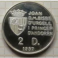 Андорра 2 динера 1997 г