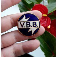 Медаль Знак Эмаль V.B.B Stockholm Стокгольм Швеция