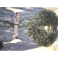 Зимнее пальто с натуральным мехом,р 44-46