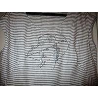 Блузка с интересным принтом. Лен . Р-р 52 Femme