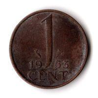 Нидерланды 1 цент 1953