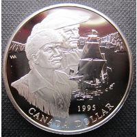 Канада. 1 доллар 1995. Пруф. Серебро. 381