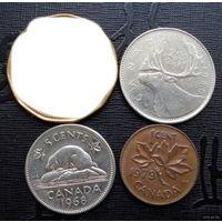 Канада. 3 монеты 1968-1980 г.