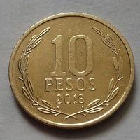 10 песо, Чили 2013 г.