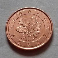 2 евроцента, Германия . 2017 A, 2018 A, AU
