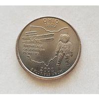 25 центов США 2002 г. штат Огайо D