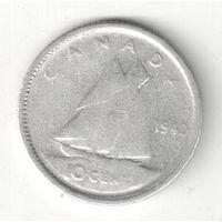 Канада 10 цент 1942