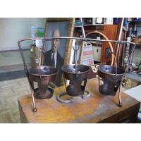 Подсвечник? на три свечи, медь, 16*25 см.