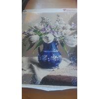 """Картина алмазная мозаика""""Белые тюльпаны"""""""