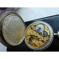 Карманные  часы ( серебро 0.800 ). Баланс не рабочий ( ось целая - слетела пружинка ) - стрелки переводятся - крышки закрываются плотно.