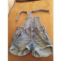 Комбинезон джинс на девочку 7-8 лет