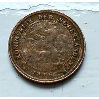 Нидерланды 1/2 цента, 1916 1-11-25