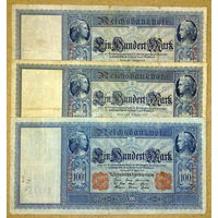 100 марок 1908,09,10гг.