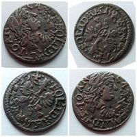 Боратинка Польша Речь Посполитая 1664 год, ДВОЙНОЙ УДАР, Отменная монета, Замечательное состояние XF++>AU!!!