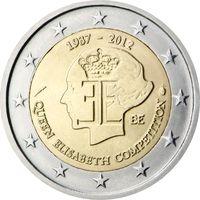 2 евро 2012 Бельгия 75-летие музыкального конкурса имени королевы Елизаветы UNC из ролла