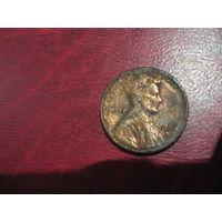 """1 цент 1986 года """"D"""" США"""