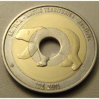 """Арктика.  10 долларов 2011 год  """"Белый медведь""""  UNUSUAL"""