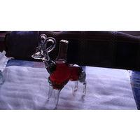 Бутылка фигурная (горный козёл большой) 100 млл. стекло. распродажа
