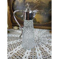 Винтажный графин-декантер, серебрение, Италия