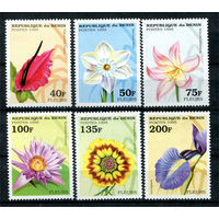 Бенин - 1995г. - Цветы - полная серия, MNH [Mi697-702] - 6 марок