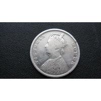Британская Индия 1862 г половина рупии  ( серебро )