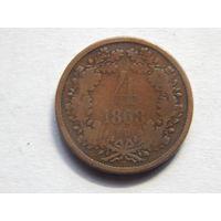 Венгрия 4 крейцера 1868г