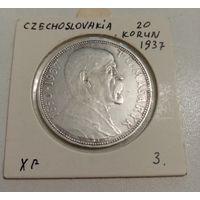 Чехословакия. 20 крон 1937 года