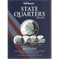 Набор 25 центов Штаты и Территории США 1999-2009 год (112 шт. двор Р и D) в альбоме