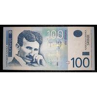 РАСПРОДАЖА С 1 РУБЛЯ!!! Сербия 100 динаров 2013 год UNC