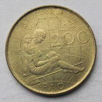 Италия 200 лир 1980 ФАО - Международный женский год