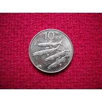 Исландия 10 крон 2008 г.