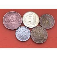 5 монет 5 стран  без повторов #54 Старт с 50 копеек