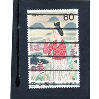 Япония. Mi:JP 1459. Нюкада-но-Окими и Нара весной, Юкихико Ясуда. Серия:Modern Art. 1981.