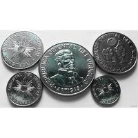 Уругвай набор 1989 5 монет