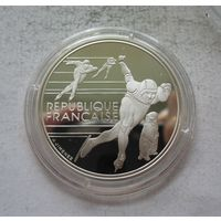 Франция 100 франков 1990 XVI зимние Олимпийские Игры, Альбервиль 1992 - Конькобежный спорт Y