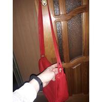 Натуральная кожанная сумка