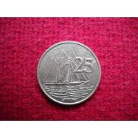 Каймановы острова 25 центов 1982 г.