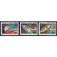 3 марки 1982 год Монголия Космос 1513-1515